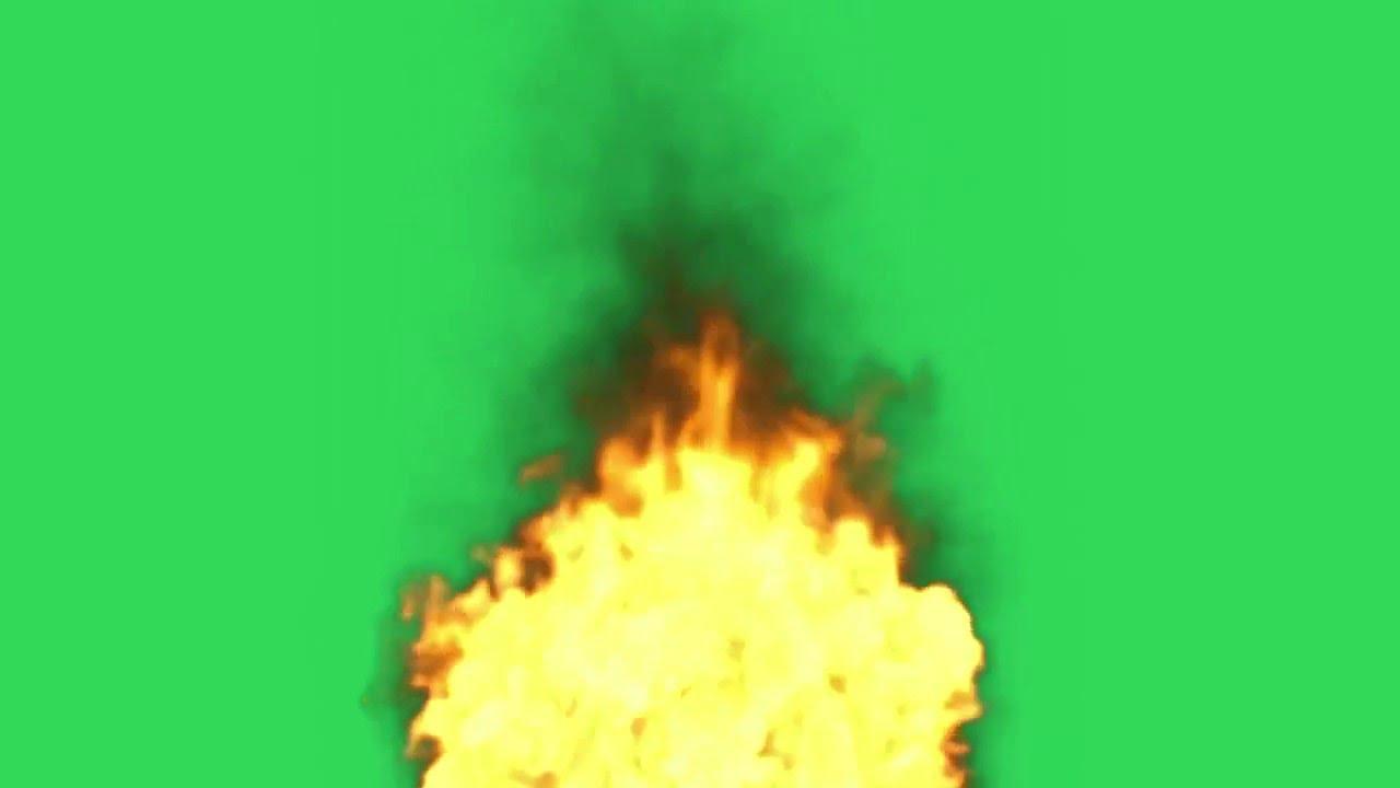 Feu, Flamme HD sur Fond Vert - YouTube