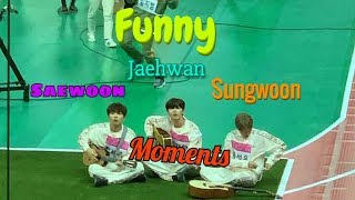 Jaehwan, sungwoon and sewoon funny moments at ISAC 2019