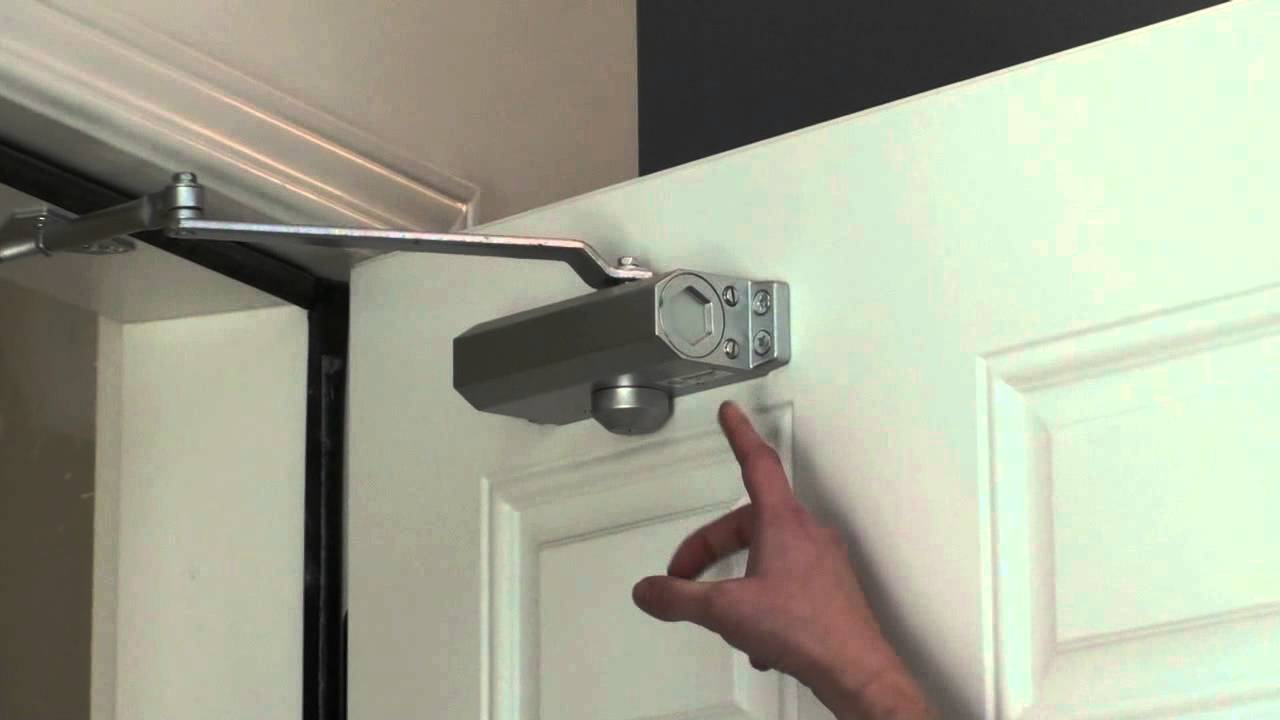 Adjusting Your Door Closer Youtube