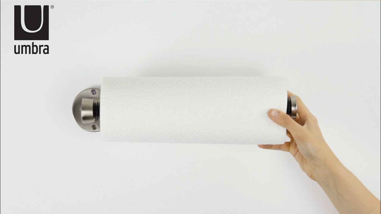 UMBRA Groove Wall Mounted Paper Towel Holder - YouTube