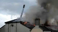 Blaze at old church of Artane Industrial School, Dublin. Part 1
