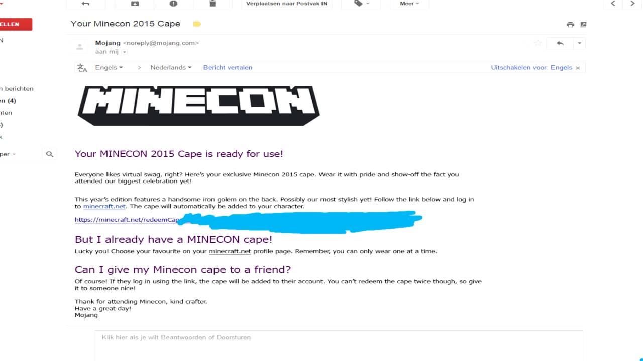 2015 Minecon cape for sale - YouTube