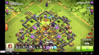 Revenge! GoWiPe Clash of Clans TH10 2 star - mrbiggstuff444