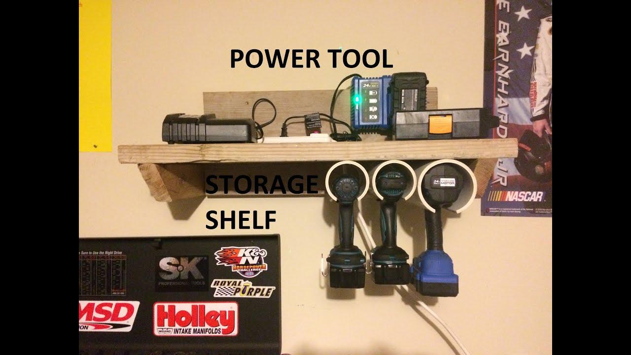 Cordless Power Tool Pvc Storage Shelf Youtube