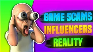 GAME SCAMS || INFLUENCERS REALITY || SKYLORD