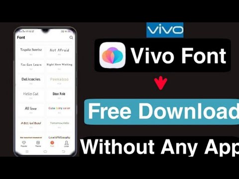 How To Download Vivo Free Font Without Any App    Vivo Free Font    Technical Vijay