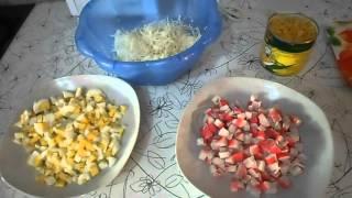 Крабовый салат с капустой!!