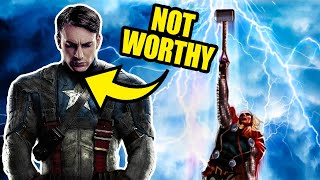 The Dark Reason Captain America REALLY Can't Lift Mjolnir
