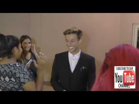Cameron Dallas greets fans outside the Variety's Power Of Young Hollywood at NeueHouse Hollywood