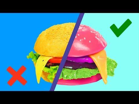 GUMMY FOOD VS REAL FOOD CHALLENGE - Bonbons ou Vraie Nourriture