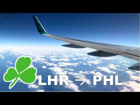HD Plan B! London-Dublin-Philadelphia on Aer Lingus / A320 & B752