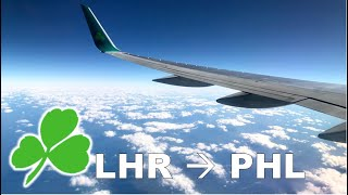 HD Plan B! London-Dublin-Philadelphia on Aer Lingus / A320 & B752