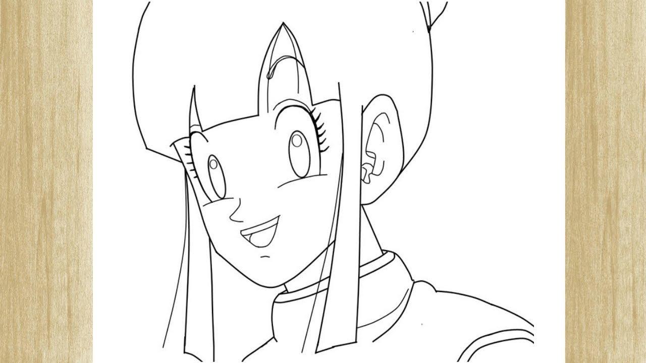 How To Draw Chichi From Dragon Ball Z Como Desenhar A Chichi