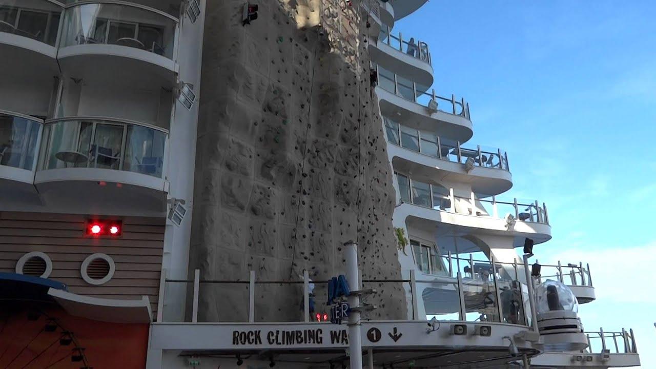 Rock Climbing Walls On The Allure Of The Seas Cruise Ship YouTube - Rocking cruise ship