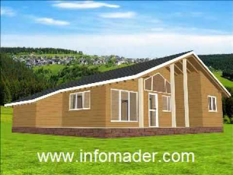 Casas de madera modelo panoramic 103 m2 youtube - Infomader casas de madera ...