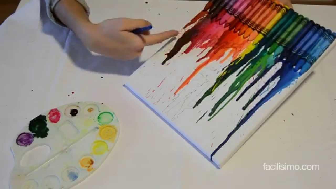 Cmo hacer un cuadro de ceras de colores facilisimocom YouTube