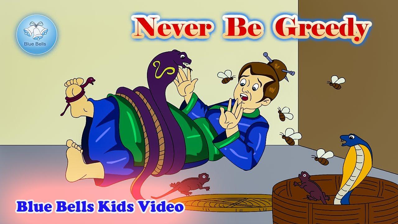 Never Be Greedy    Moral Stories   Ch-14   Moral Value-8   Blue Bells Kids Video