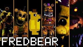 Evolution of Fredbear / Golden Freddy in FNAF (2014-2019)