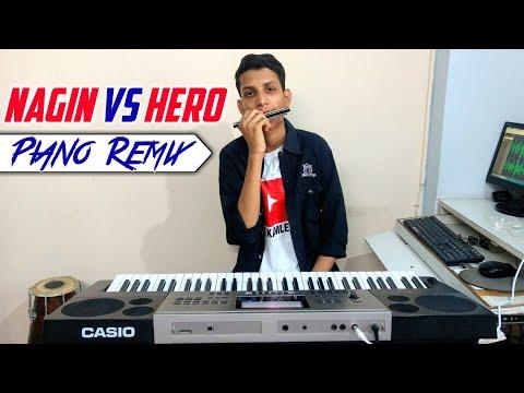 NAGIN VS HERO Remix   Piano Dj Remix   Nagin Mix Tune   Hero Flute Tune   The Kamlesh