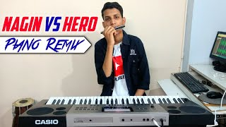 Gambar cover NAGIN VS HERO Remix   Piano Dj Remix   Nagin Mix Tune   Hero Flute Tune   The Kamlesh
