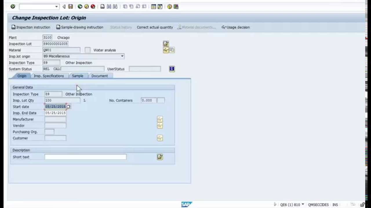 SAP QM Retain Sample Management Explained YouTube – Sample Management
