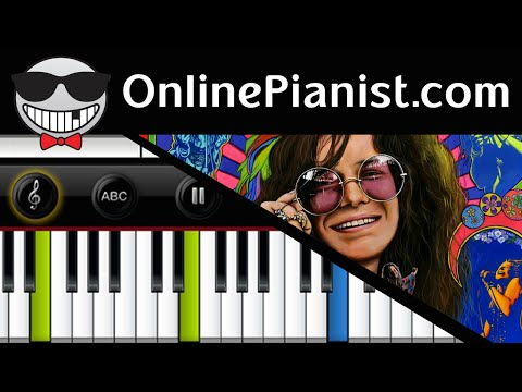 Janis Joplin - Piece of My Heart - Piano Tutorial & Sheets (Accompaniment Intermediate)