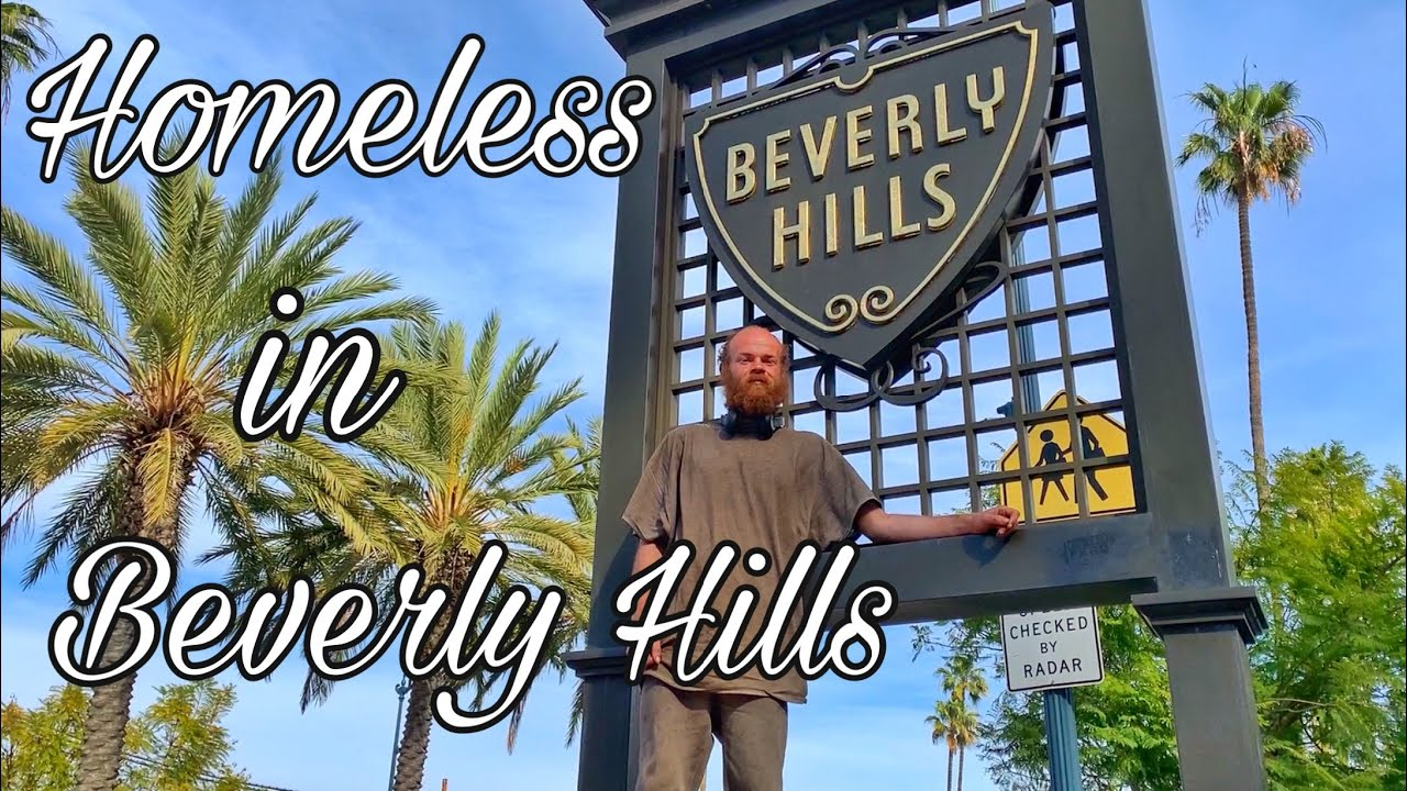 Homeless in Beverly Hills Los Angeles California