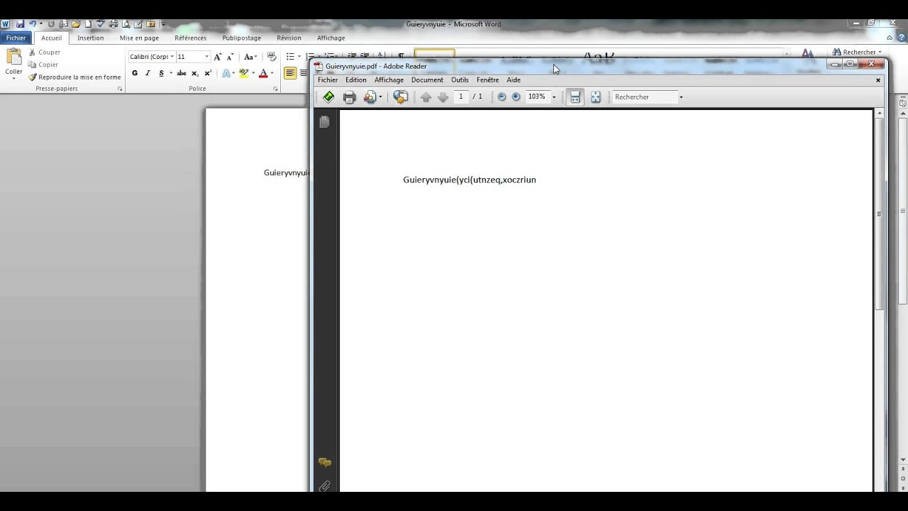Comment convertir un fichier word 2010 en pdf youtube - Convertir fichier pdf en open office ...