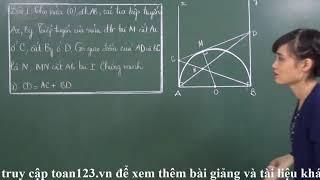 Toán 9 [Hình học - Chương 2] - Chinh phục toàn bộ đường tròn -Bài luyện tập 1