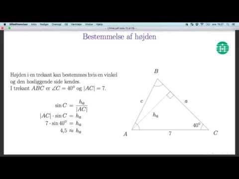 Maple 18 - Sådan beregnes hypotenusen i en retvinklet trekant med kendt vinkel from YouTube · Duration:  3 minutes 19 seconds