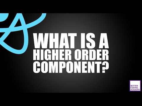 What is a Higher Order Component? | React Tutorials thumbnail