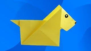 Как сделать СОБАЧКУ ИЗ БУМАГИ своими руками. Оригами собака. Видео