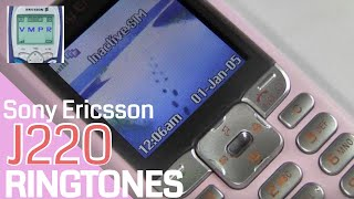 Sony Ericsson J220 Mobile Phone Ringtones - Released in 2005. One Minute of Side by Side Ringtones