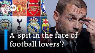 Breakaway Super League threatens UEFA Champions League DW News