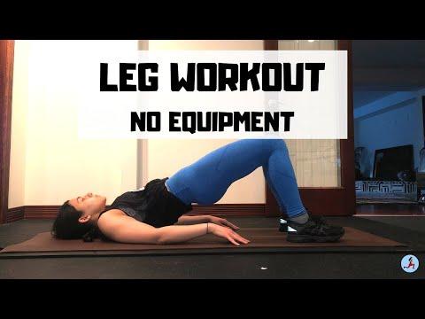 beginner-leg-workout-for-women- -no-equipment-or-gym