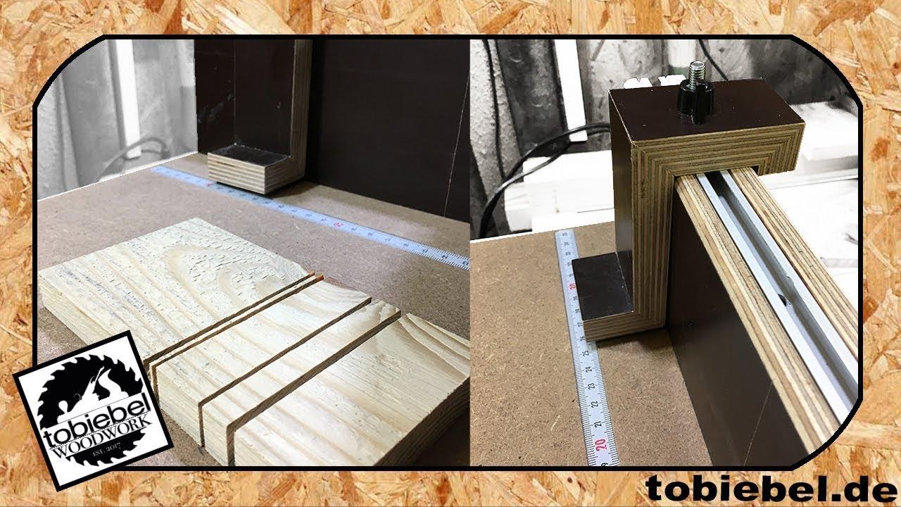 diy anschlag f r schiebeschlitten holzmann tk255 tischkreiss ge selber machen crosscut sled. Black Bedroom Furniture Sets. Home Design Ideas