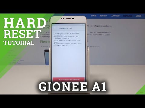 Hard Reset GIONEE A1 - HardReset info