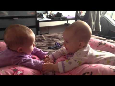 Twin Babies Talk And Hold Hands For The First Time