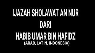 Ijazah Habib Umar Bin Hafidz  Sholawat
