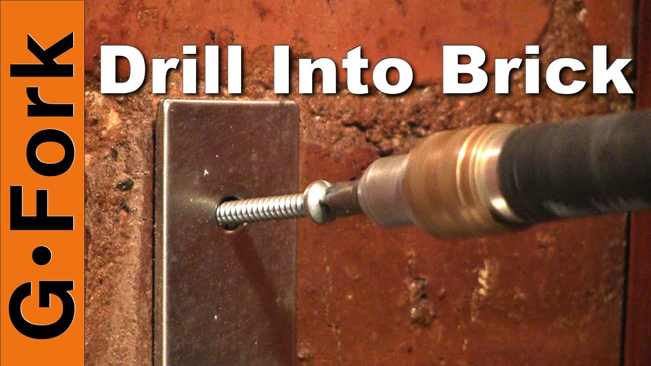 How To Drill Brick Without A Hammer Drill