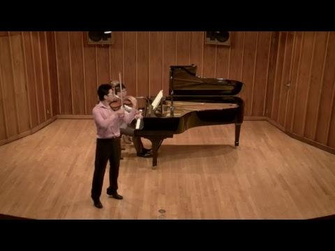 Sicong Chen, Violin; Recital Starts 04/15/2018 at 2:30pm AZ Time