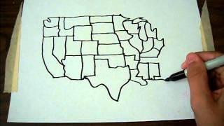 USA map from memory