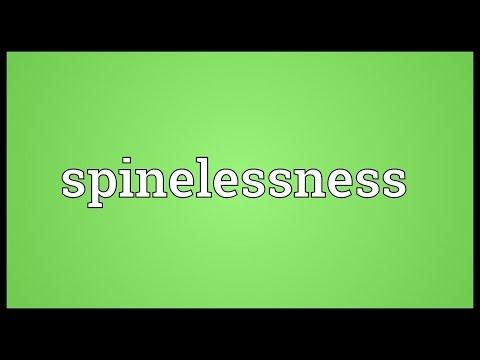 Header of spinelessness