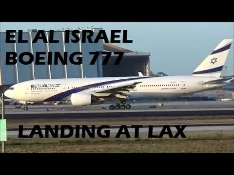 El Al Israel Airlines Boeing ER Landing At LAX Los Angeles - Flights to israel from lax