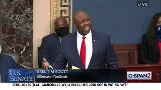 Senator Tim Scott (R-SC) remarks following JUSTICE Act vote
