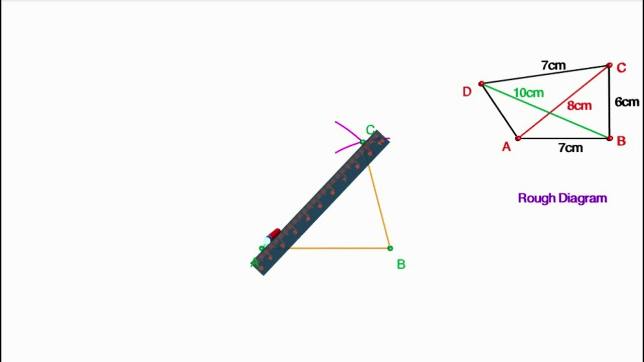 Construction of Quadrilaterals in which Three sides and