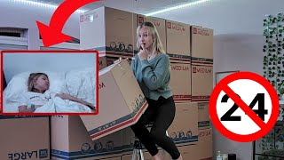 24 Hours Overnight In My SISTER'S Room PRANK!!!