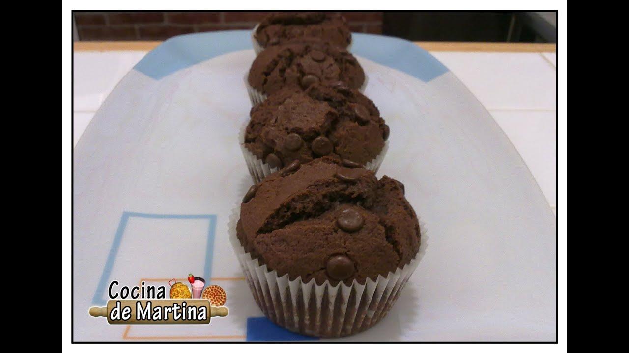 Muffins de chocolate recetas de cocina cocina de for Cocina de martina
