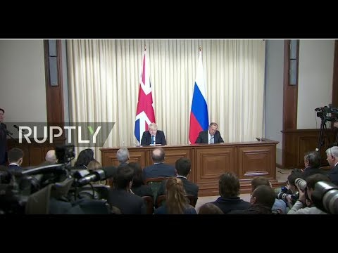 LIVE: Lavrov holds joint press conference with British Foreign Secretary Boris Johnson