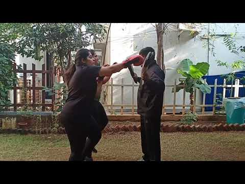 Never stop kickboxing National Academy female personal kickboxing training
